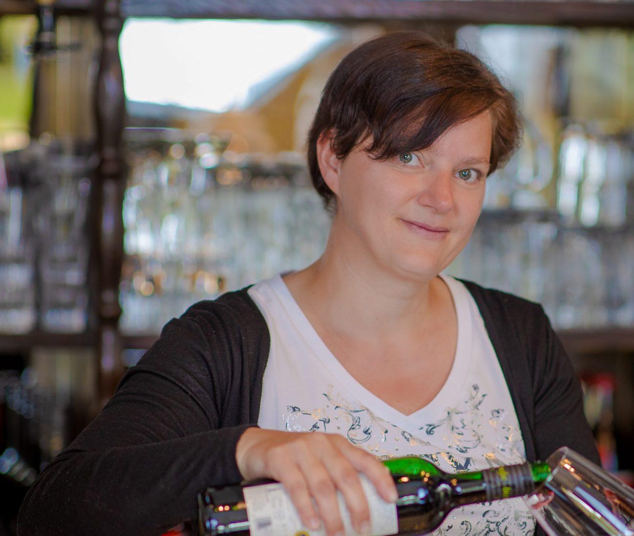 Gaststätte zur Büch's in Suhl - zu sehen ist Inhaberin Daniela Hofmann